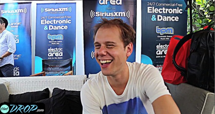 Exclusive interview with Armin van Buuren at the SiriusXM Lounge during Miami Music Week 2015.