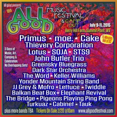 All Good Music Festival and Camp Out @ Berry Hill Farm | Summit Point | West Virginia | United States