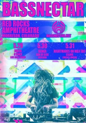 Bassnectar @ Red Rocks 3-Night Run @ Red Rocks Amphitheater