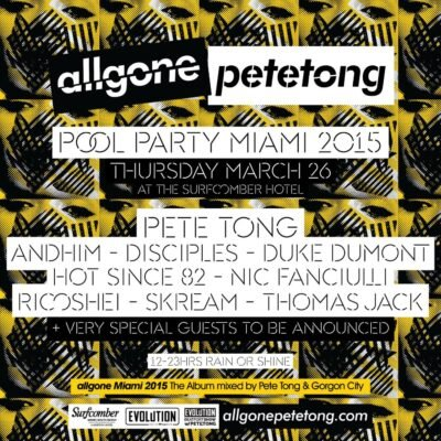 All Gone Pete Tong Pool Party at The Surfcomber @ The Surfcomber | Miami Beach | Florida | United States