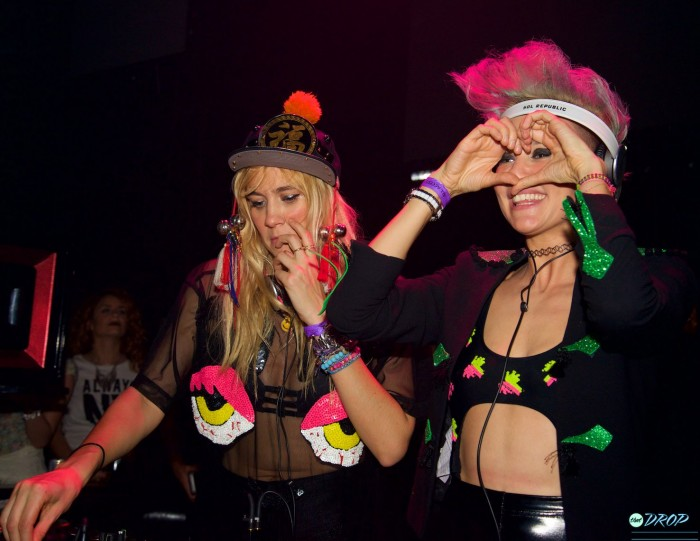 Nervo throwing up hearts