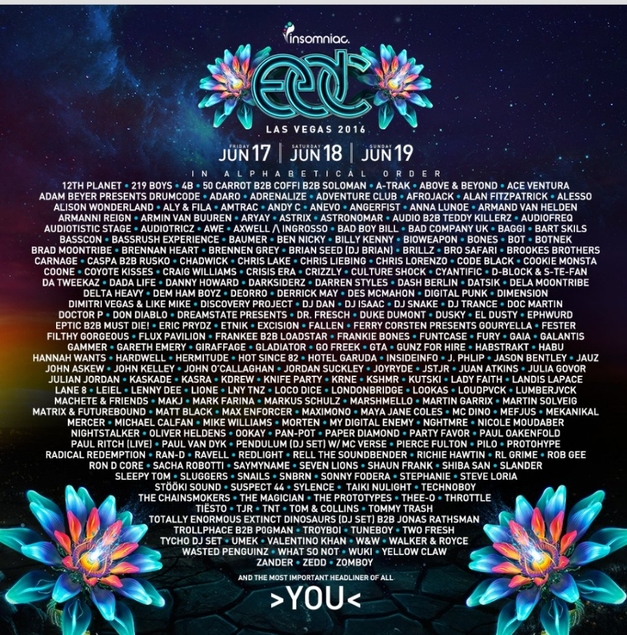 When is the edc las vegas lineup announced