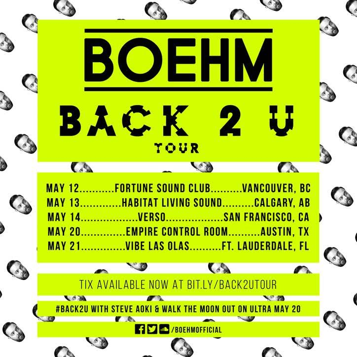 Boehm Back 2 U Tour