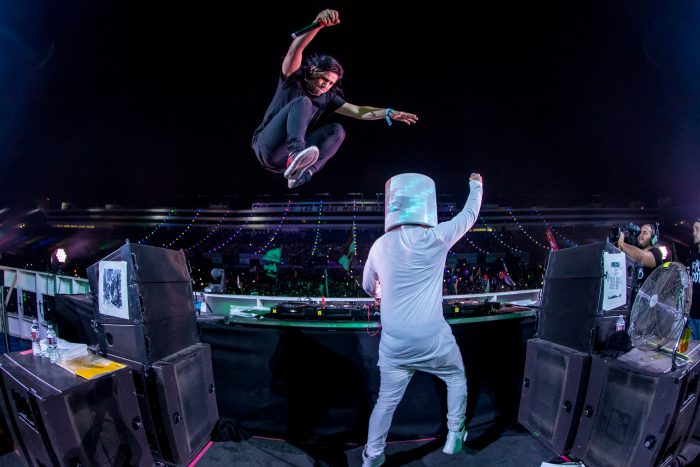 Skrillex Joins Marshmello on Stage at cosmicMEADOW via Freedom Film LLC for Insomniac