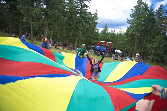 Jumping Into the Parachute @ What The Festival