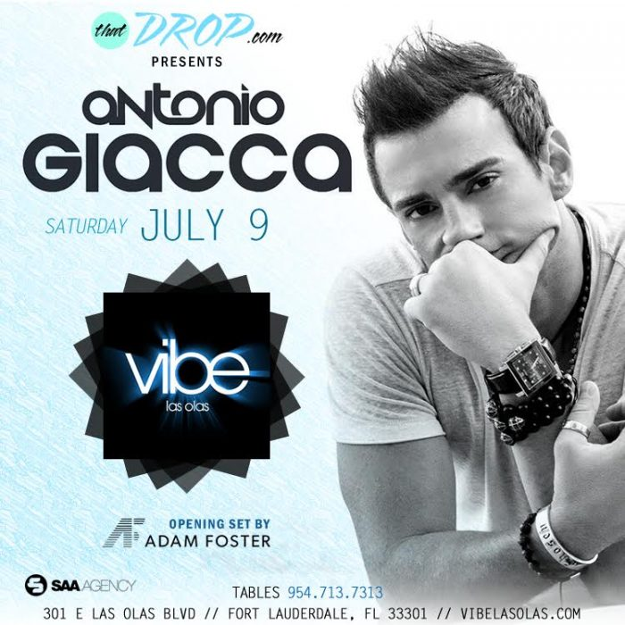 Antonio Giacca to Perform at Vibe Las Olas in Fort Lauderdale, FL