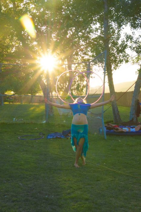 Hooping it at Saturday sunset @ Woogie