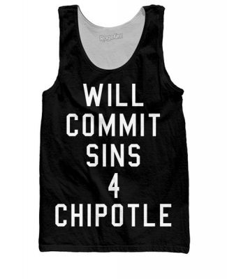 Will Commit Sins 4 Chipotle Tank Top