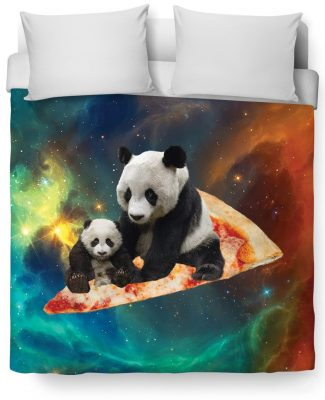 Click here to buy a Space Pizza Panda Duvet Cover