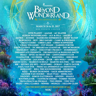 Beyond Wonderland 2017 @ National Orange Show Event Center | San Bernardino | California | United States