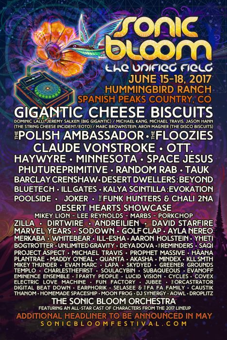 SONIC BLOOM LINE UP