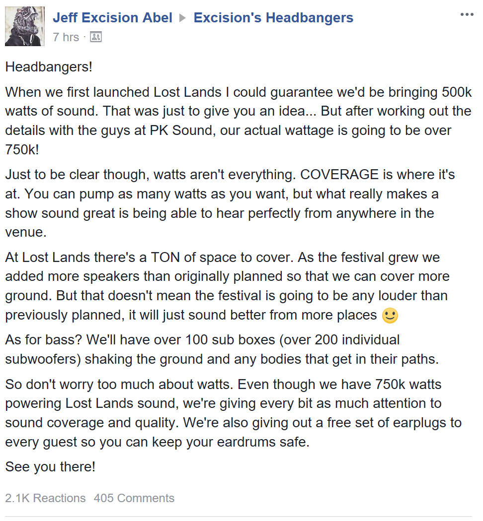 Excision to Execute Perfect Sound Design for Lost Lands Music Festival
