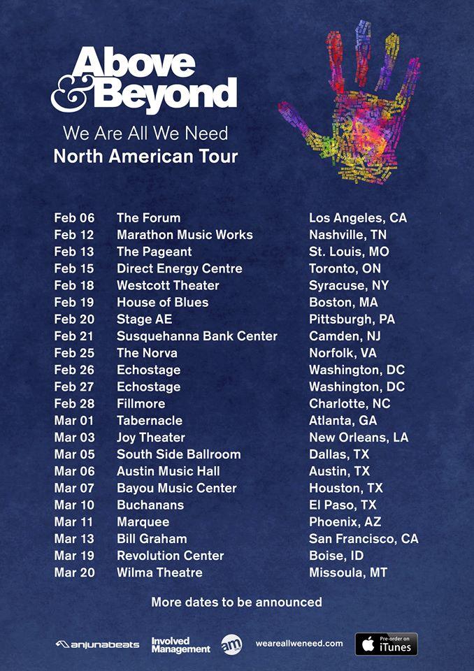 Above Beyond Tour Dates