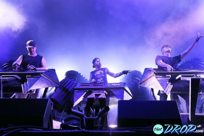 The Glitch Mob tearing it down at Imagine Music Festival. Photo - Mary Cormaci Photography.