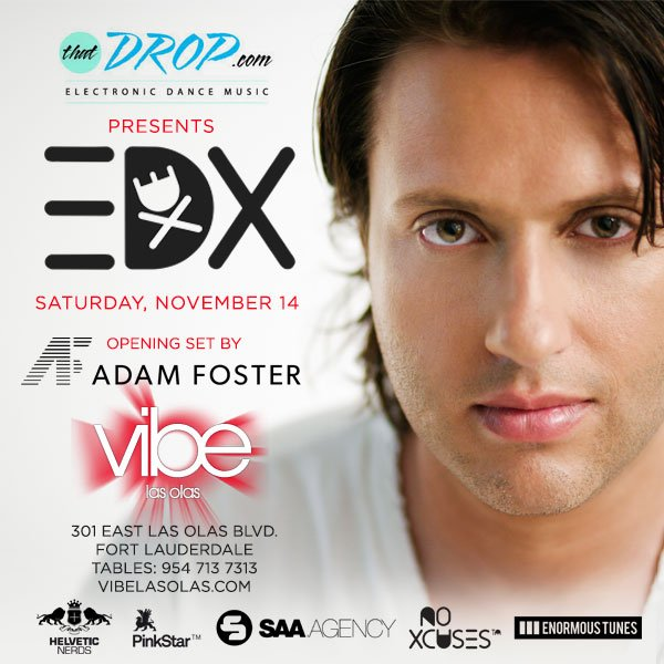 EDX heads to Fort Lauderdale, Florida on Saturday, November 14, 2015.