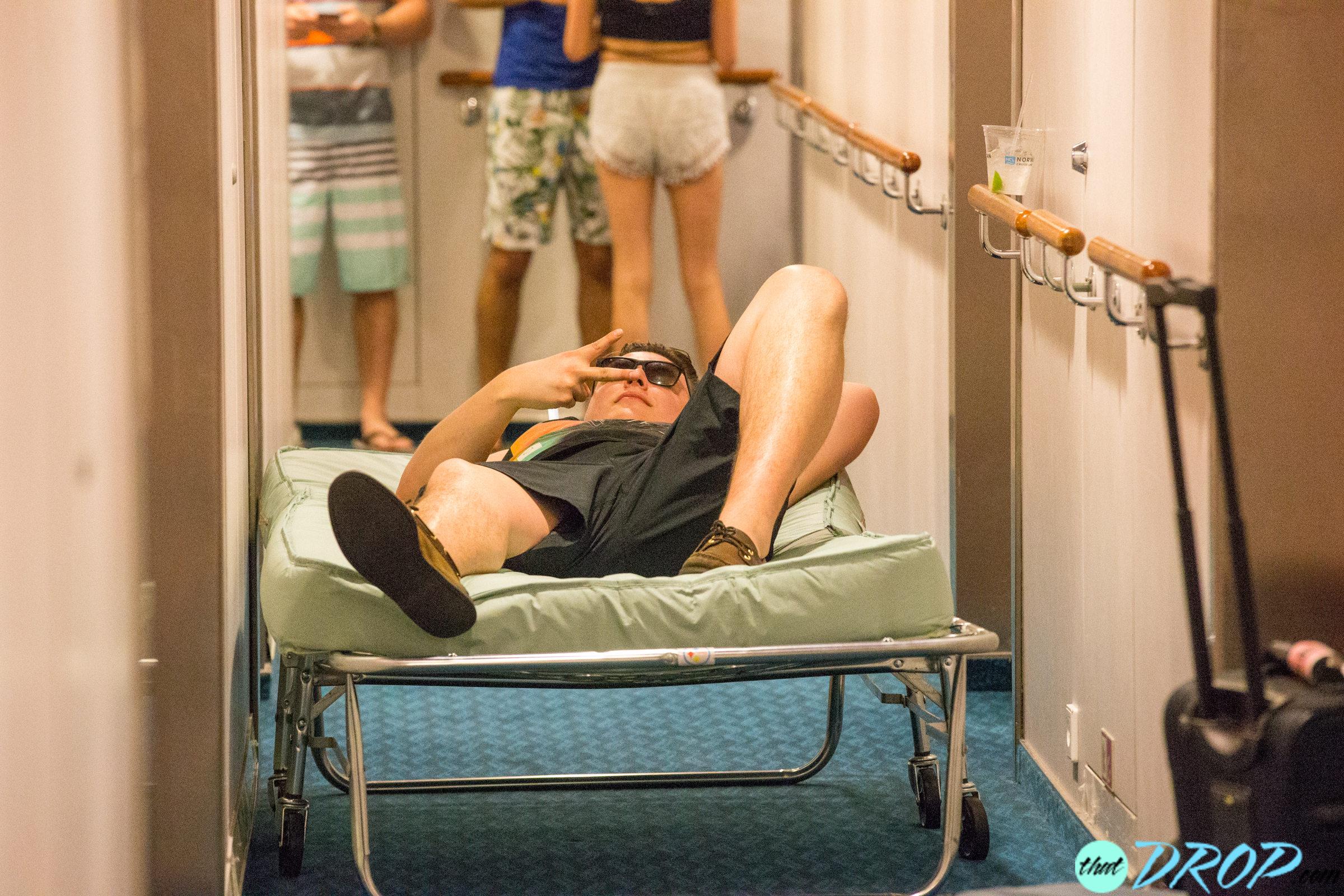 Premium Nap Time In Hallway