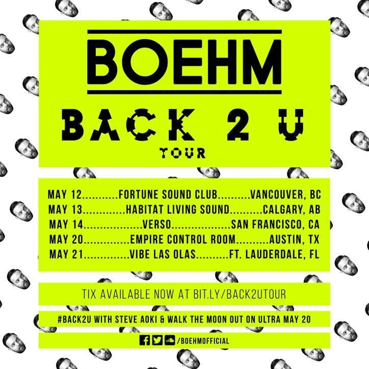 Boehm Back 2 U Tour