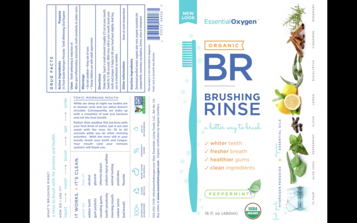 Organic Brushing Rinse's Newly Re-Branded Label