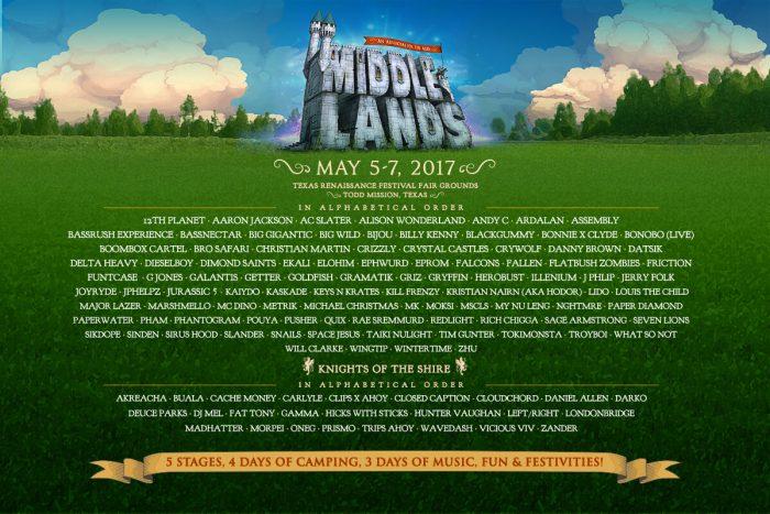 Middlelands Festival Lineup 2017